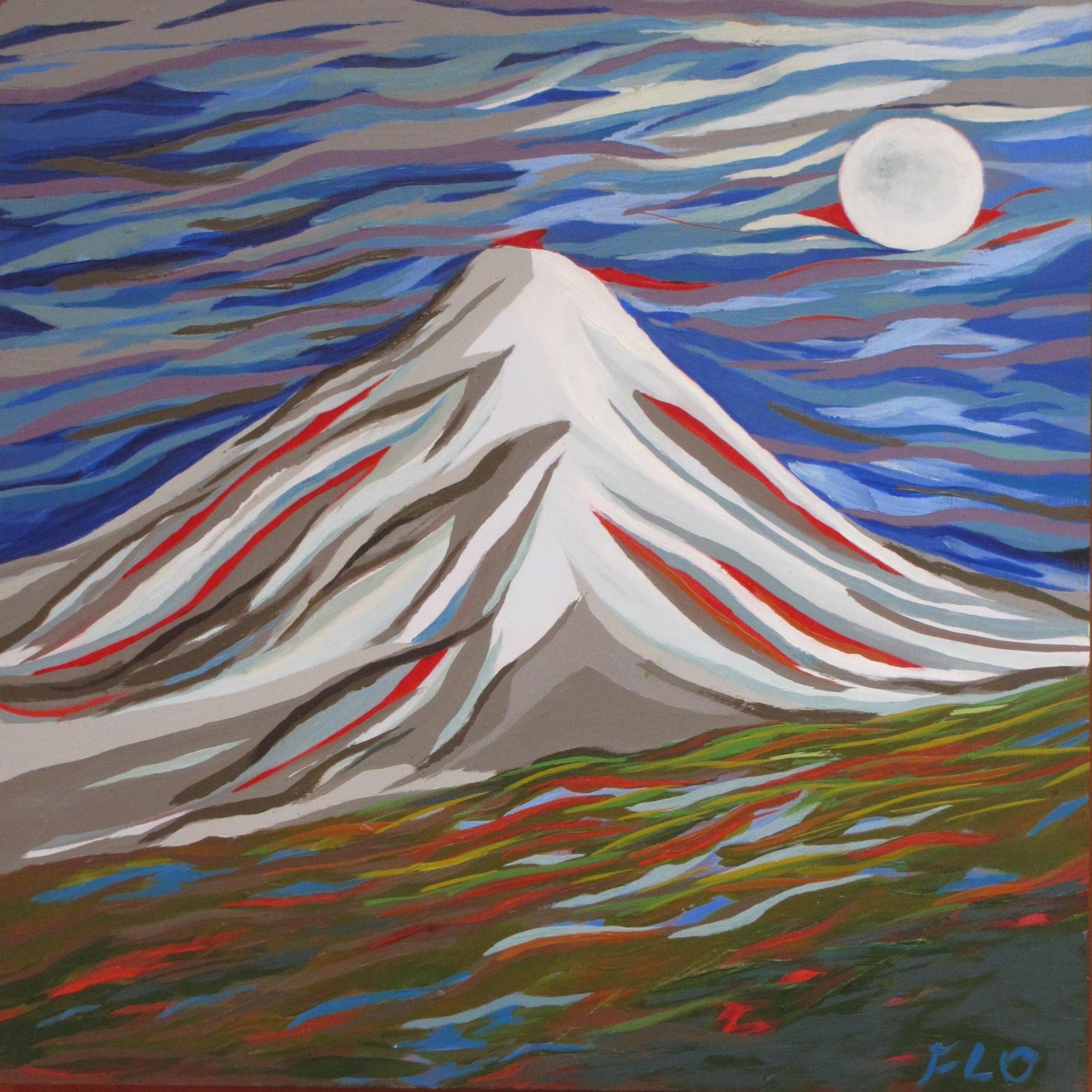 Volcan y luna llena 1A
